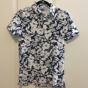 Old Navy XS Floral Soft Wash Polo